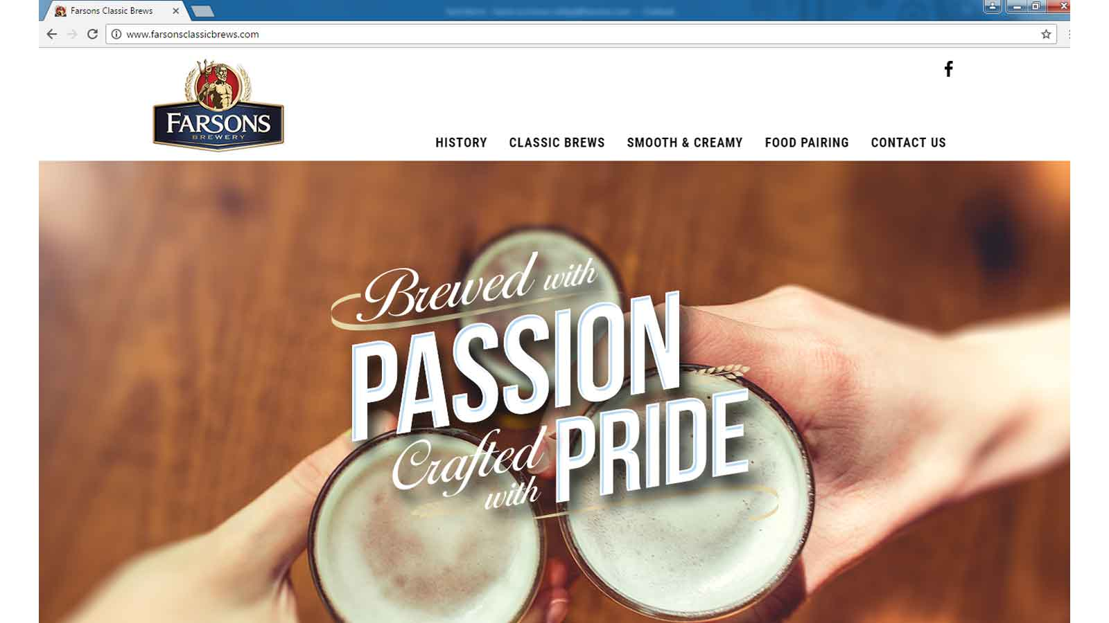 New website for Farsons Classic Brews