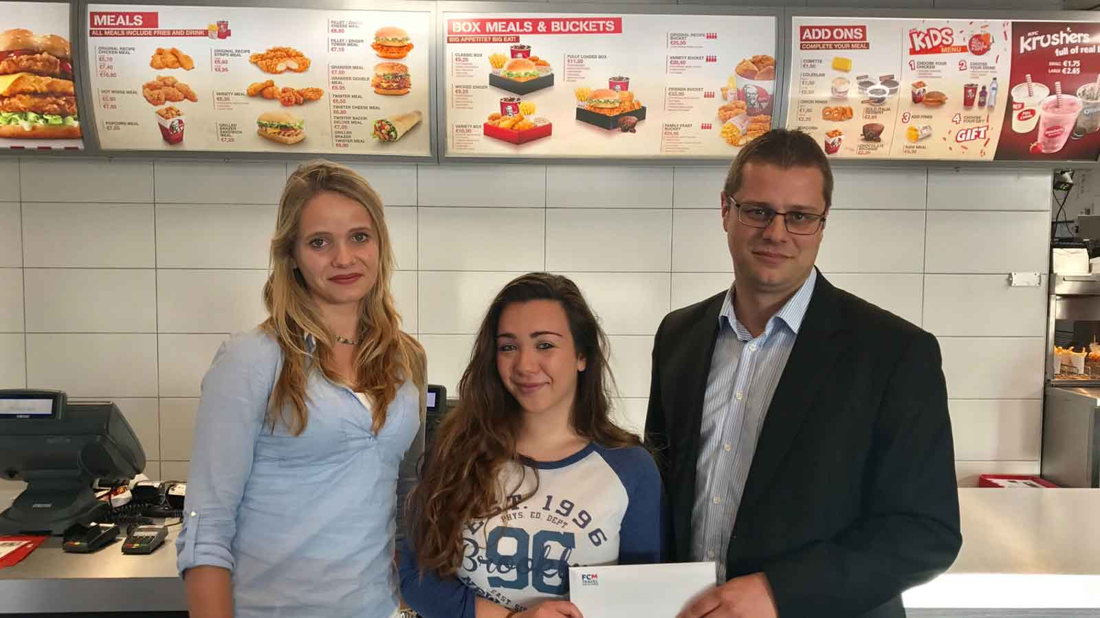 KFC winner of trip to watch Ed Sheeran live in London