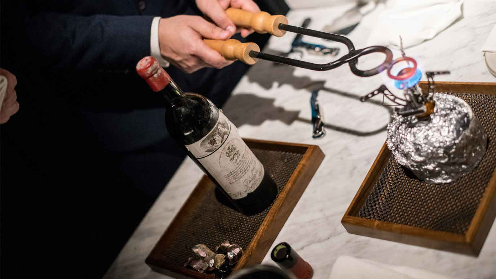 Old and rare Bordeaux vintages dinner
