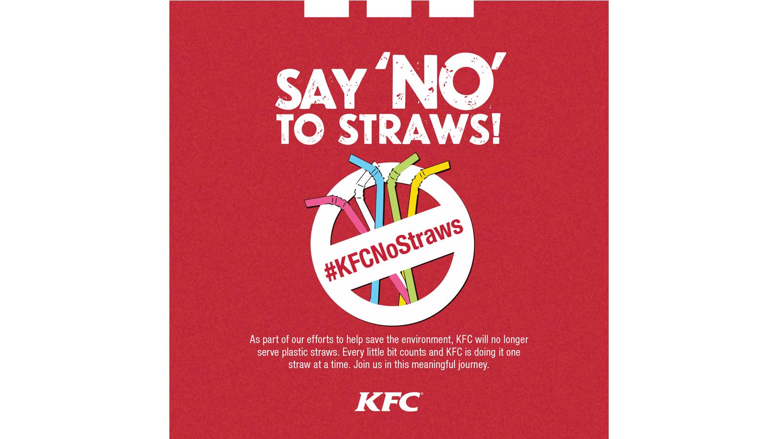 KFC Malta adopts a No Straws Policy