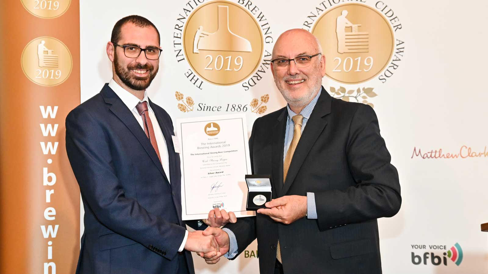 Cisk Strong Premium Lager wins Silver at the International Brewing Awards 2019