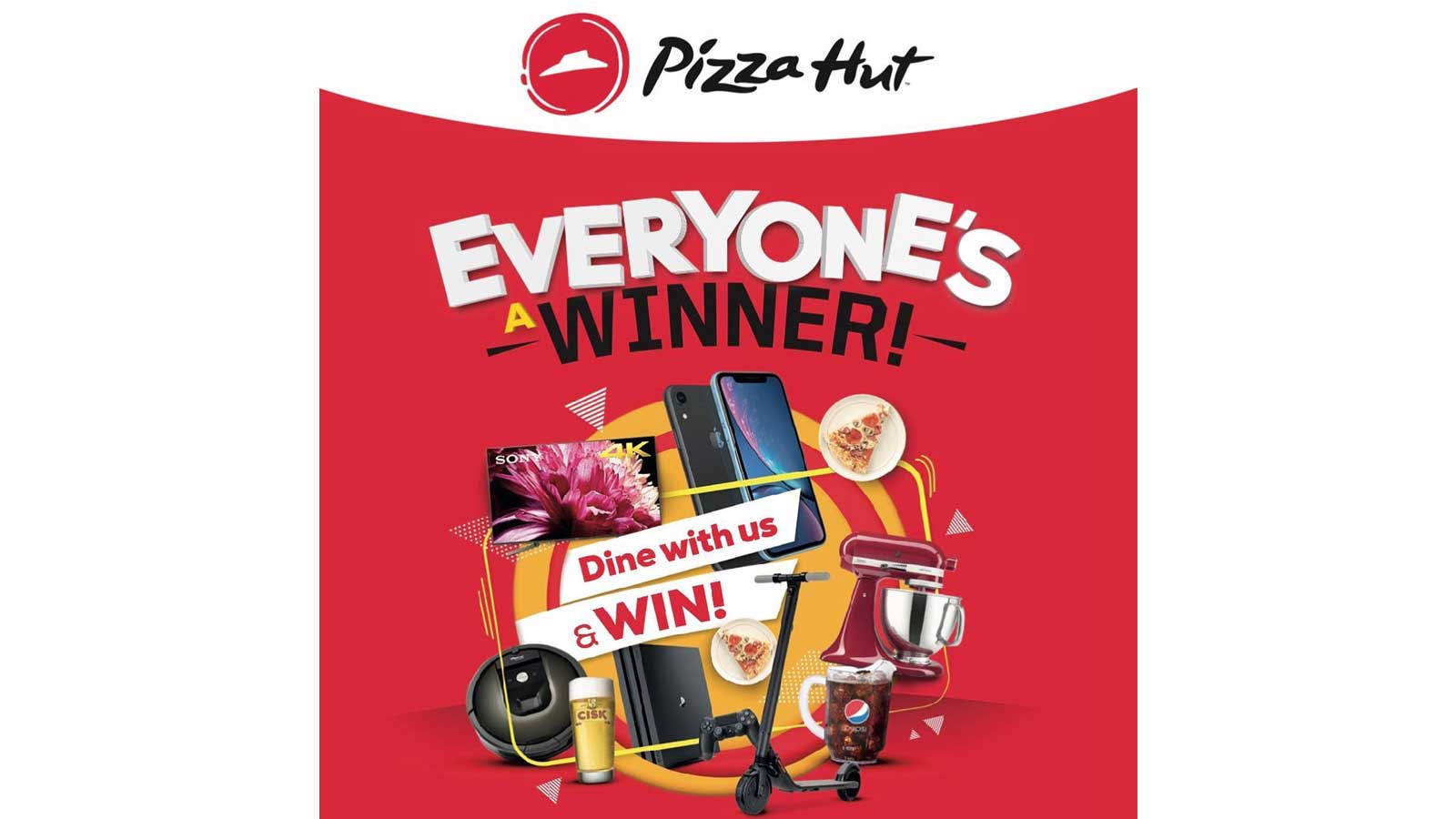 'Everyone's a winner' campaign back at Pizza Hut