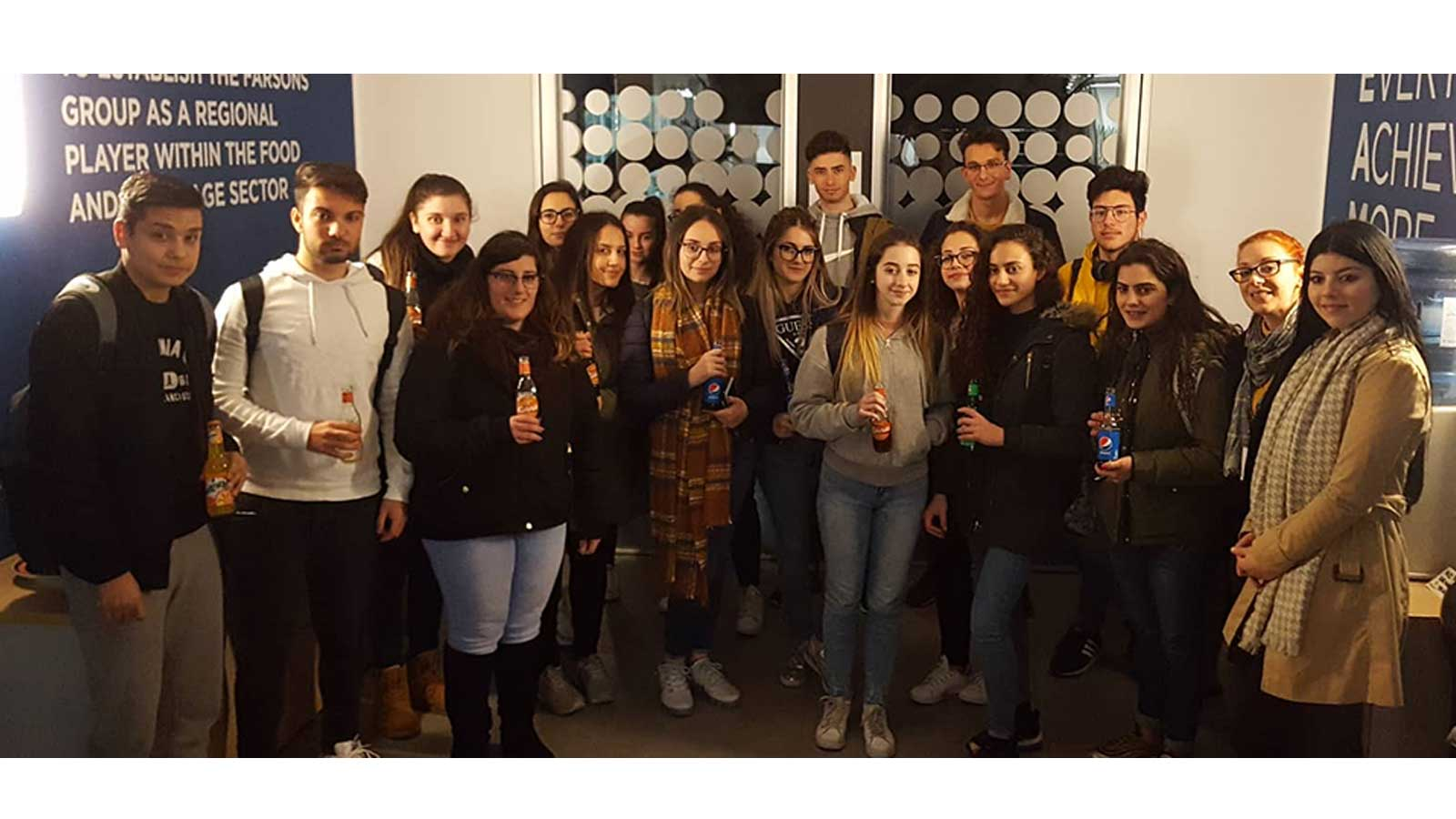 Junior College students visit Farsons Brewery