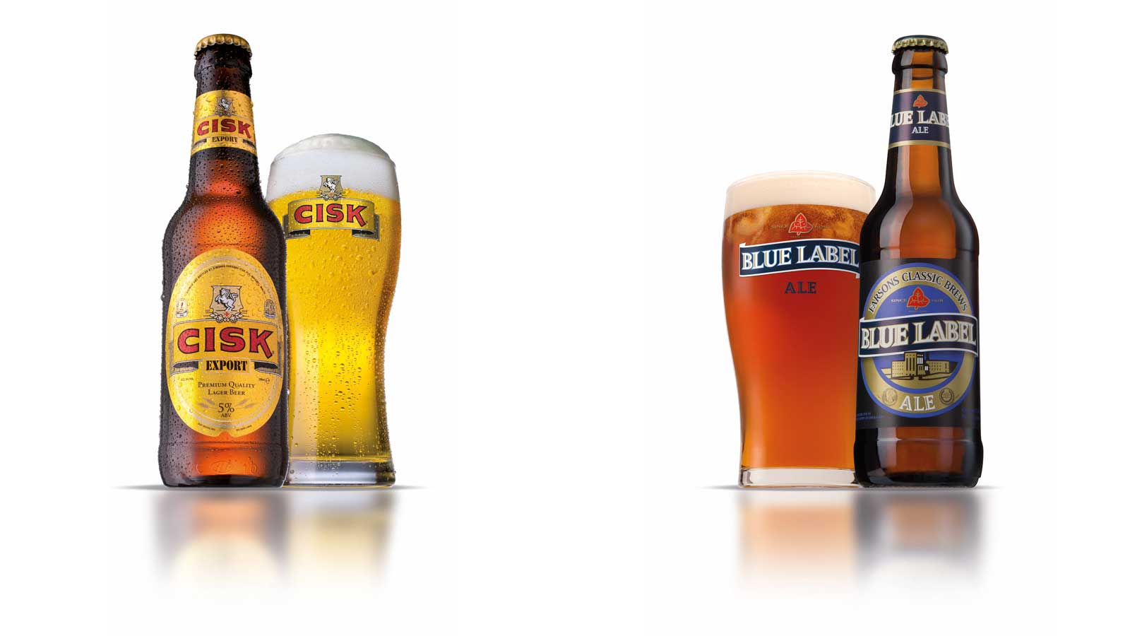 Cisk Export Premium Lager and Blue Label Ale awarded at the Brussels Beer Challenge 2015
