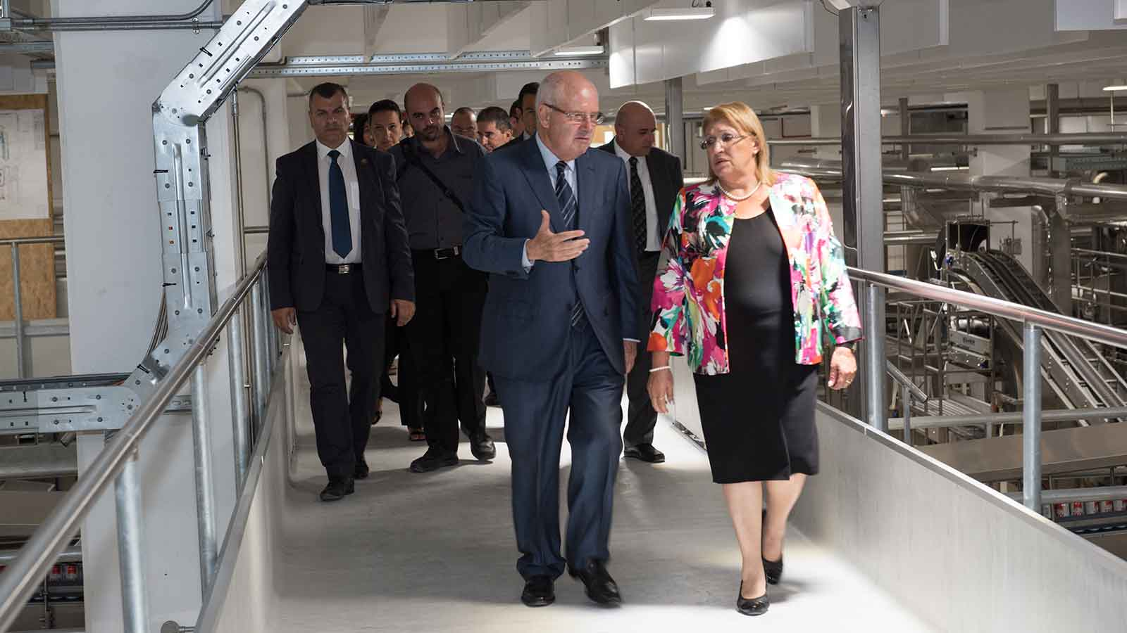 HE The President of Malta visits Farsons Brewery