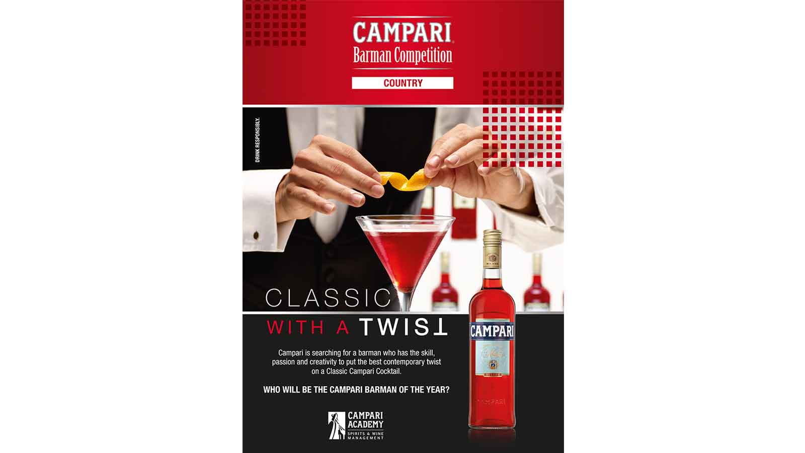 Campari is looking for a barman who can put the best contemporary twist on a classic