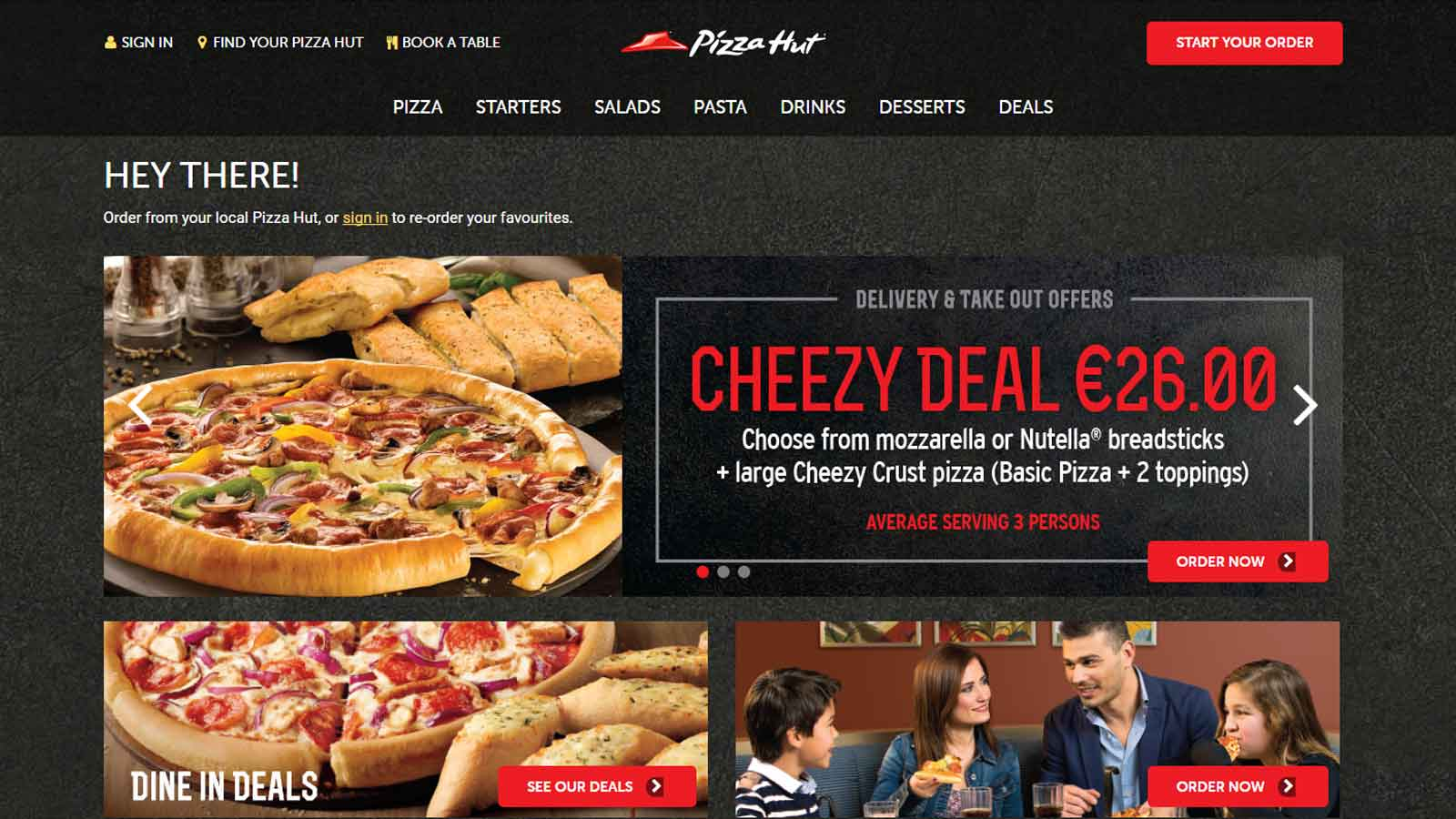 Pizza Hut Malta launches new website