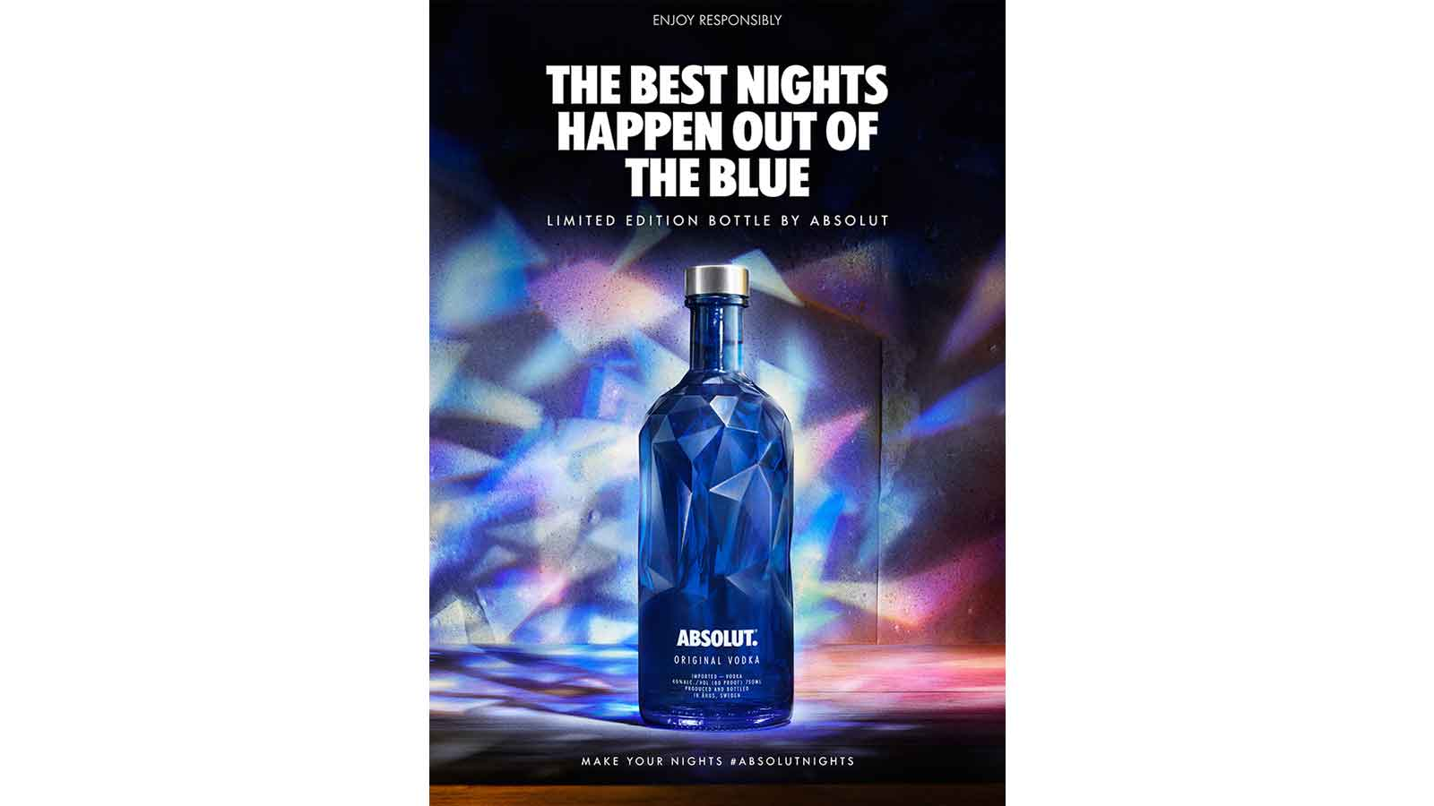 Open up to the unexpected with the Absolut Facet limited edition bottle