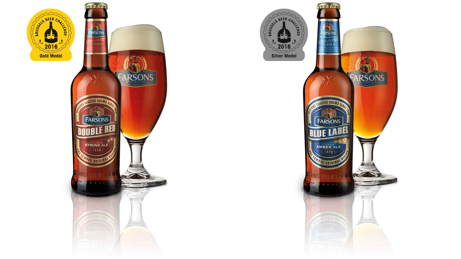 Gold and silver awards for Farsons Classic Brews in Brussels Beer Challenge