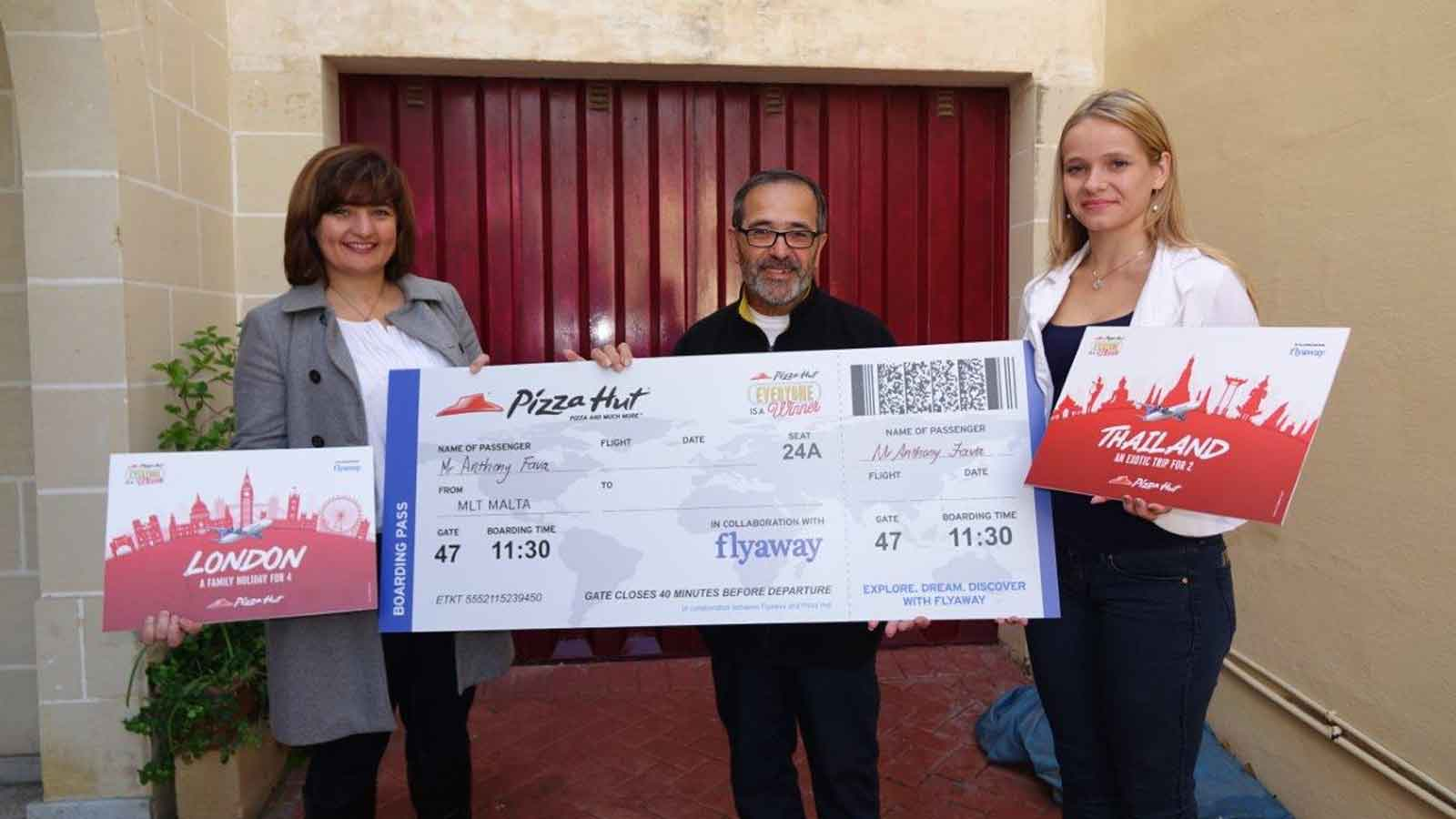 Winner drawn for the Pizza Hut 'Everyone is a Winner' Campaign