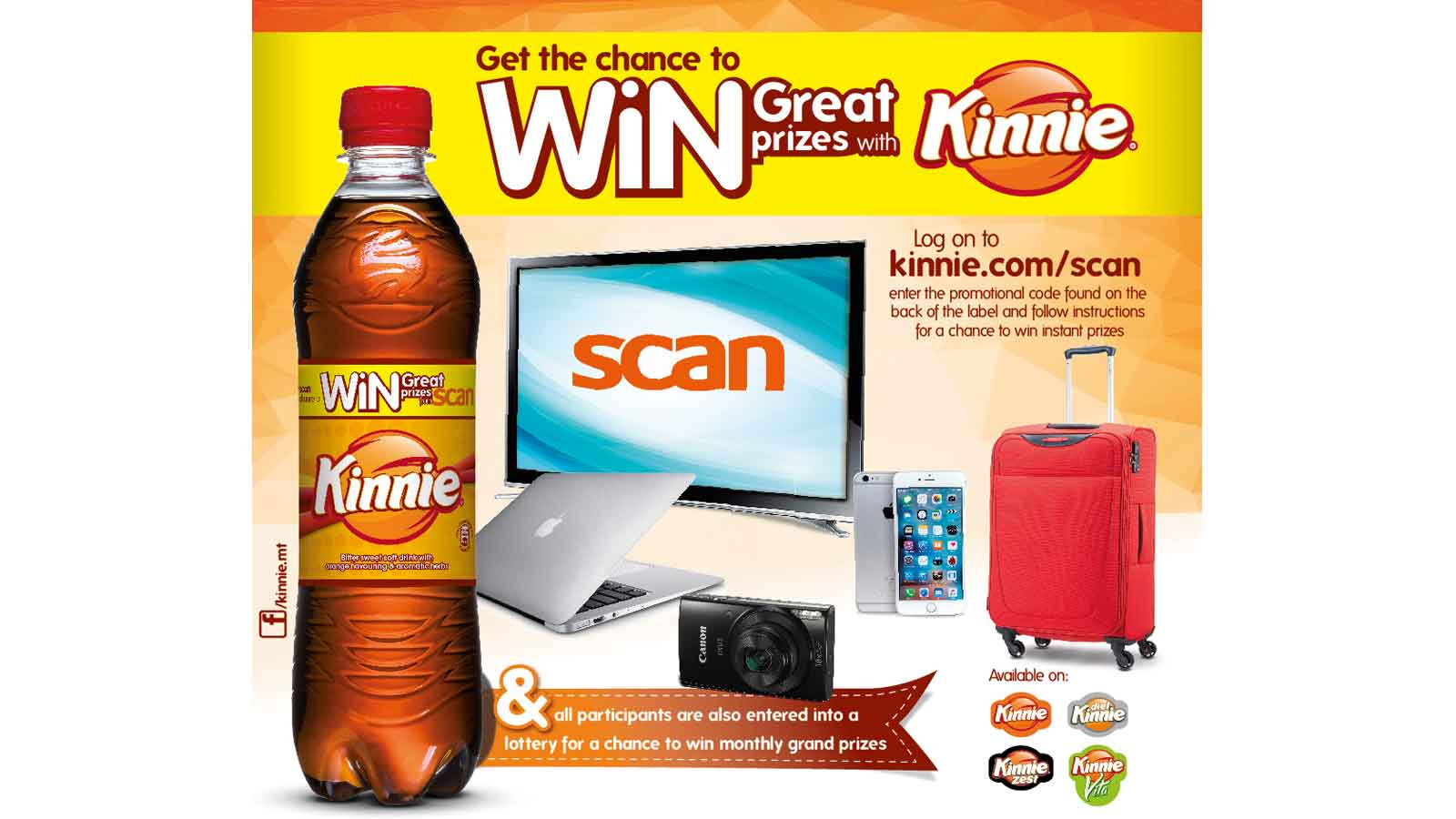 Kinnie teams up with Scan for new on-pack promotion