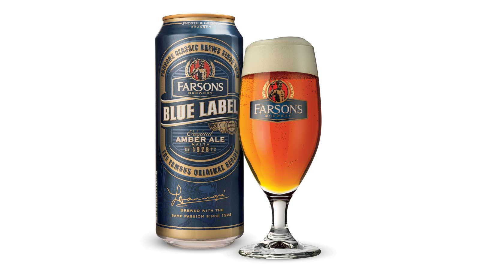 Draught in a can - Blue Label Smooth & Creamy may now be enjoyed from the comfort of your home