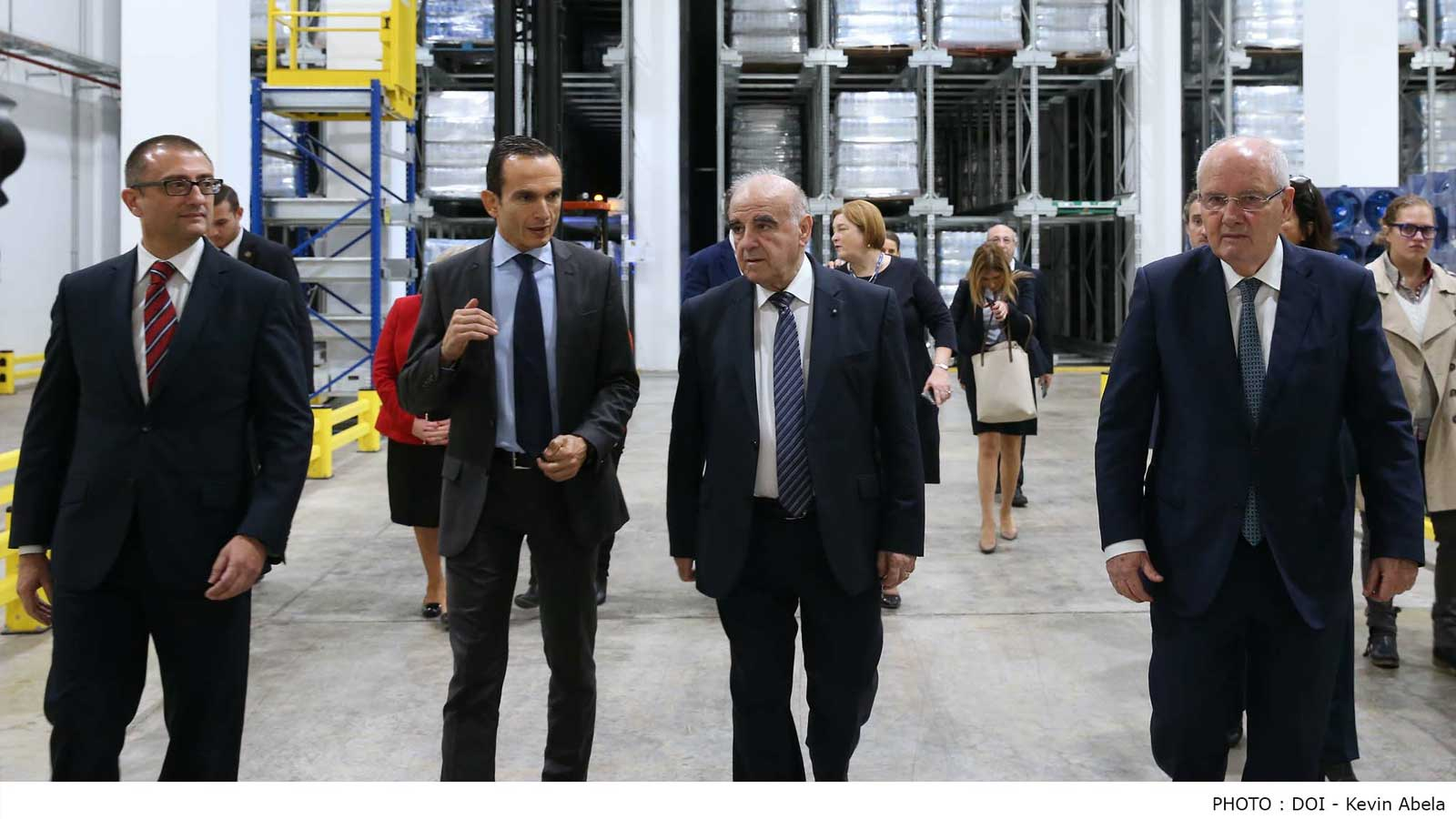HE The President of Malta and Mrs Vella visit Farsons Brewery