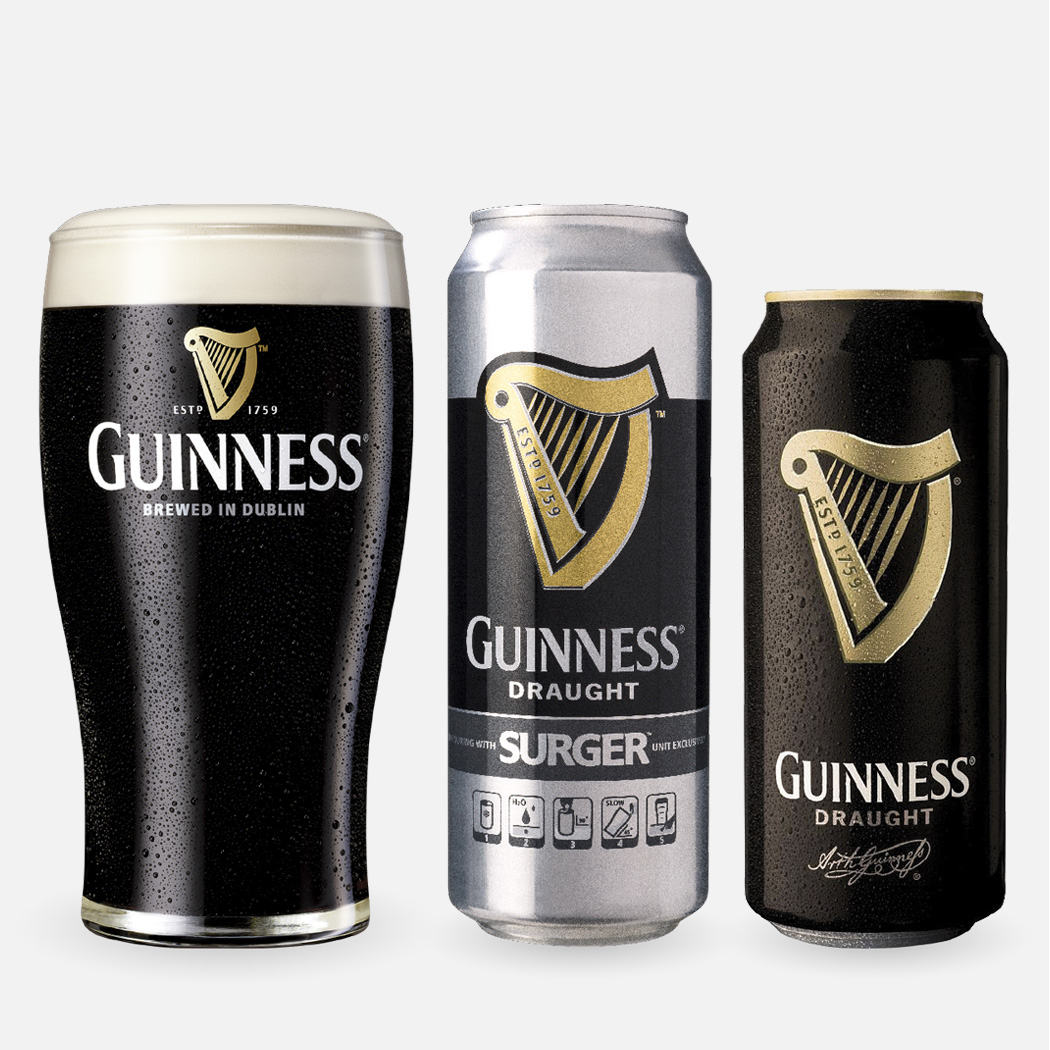 Guinness's containers