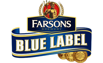 Blue Label Ale's containers